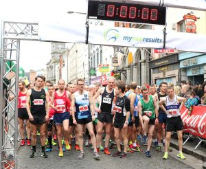 At the start of the Boyne 10k
