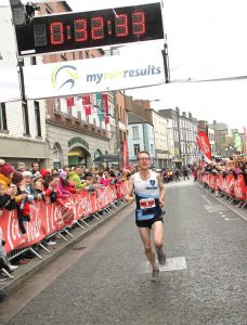 Colin Maher coming in second at the Boyne 10k